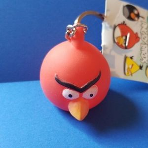 3D Red Angry Birds Plastic Keychain
